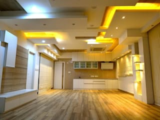 Residential interiors for Mr.Seelan at Chennai Offcentered Architects Minimalist kitchen