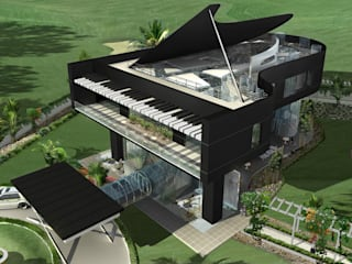 Proposed Musical residence at Chennai Offcentered Architects Eclectic style houses