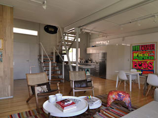 Projekty,  Salon zaprojektowane przez Matealbino arquitectura