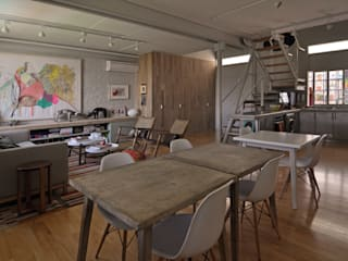 Matealbino arquitectura Salon moderne