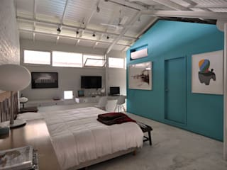 غرفة نوم تنفيذ Matealbino arquitectura,