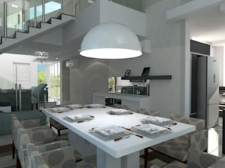 Sala de Jantar: Salas de jantar  por Arquitetando Arquitetas Associadas
