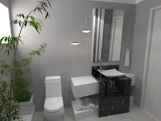 Baños de estilo moderno de Arquitetando Arquitetas Associadas Moderno
