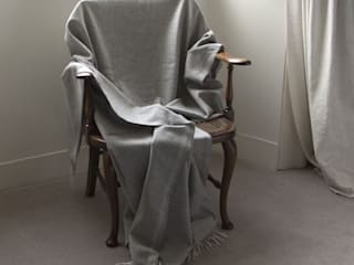 Jermyn cashmere and merino twill throw: modern  by The Biggest Blanket Company, Modern