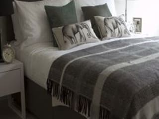 Antonia Wool and Mohair throw: modern  by The Biggest Blanket Company, Modern