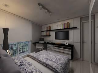 Dormitório menino: Quartos  por Débora Pagani Arquitetura de Interiores,Moderno