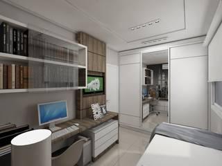 Dormitório jovem: Quartos  por Débora Pagani Arquitetura de Interiores,Moderno