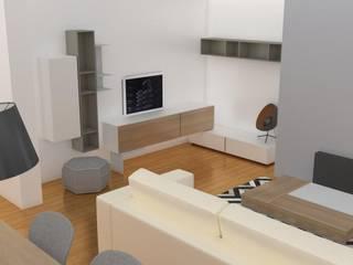 Projecto Sala de Estar: Salas de estar  por AnaPacheco - BoConcept Interior Designer,Escandinavo