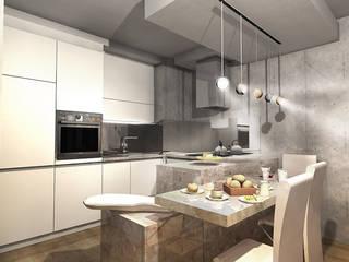 Apartament dla singla Industrialny salon od Studio Projektowe Kreatura Industrialny