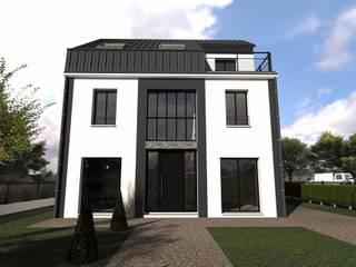 Maison contemporaine de type atelier parisien:  de style  par Atoutplans Architecture