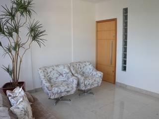O estar: Salas de estar modernas por Solange Figueiredo - ALLS Arquitetura e engenharia