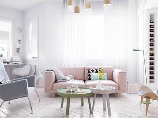 Scandinavische woonkamers van арх бюро Edifico Scandinavisch