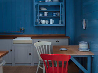 N1 Kitchen by British Standard British Standard by Plain English Country style kitchen Wood Blue