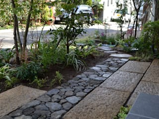 小スペースの庭: ツガワランドスケープが手掛けた庭です。