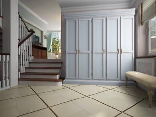 Дизайн интерьера коттеджа с бильярдной Коридор, прихожая и лестница в эклектичном стиле от Альбина Романова Эклектичный