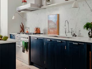 W12 Kitchen by British Standard British Standard by Plain English Rustic style kitchen Wood Blue