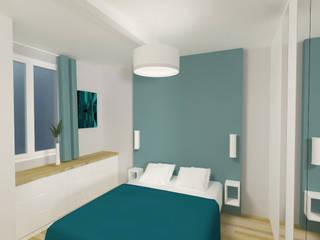 Une chambre en plus: Chambre de style de style Moderne par Emilie Lagrange