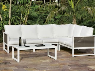 Hevea Garden Furniture Aluminium/Zinc White