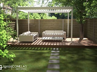 Pérgola bioclimática Azore: Jardines de estilo moderno de CONILLAS - exteriors