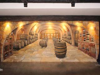 Illusionsmalerei I Wandmalerei Weinkeller im Restaurant Divino in Celle Ausgefallene Weinkeller von fialkowske design Ausgefallen