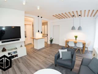 Scandinavian style dining room by 3D STUDIO Scandinavian