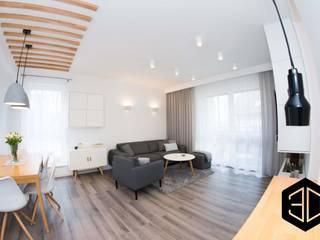 Scandinavian style living room by 3D STUDIO Scandinavian