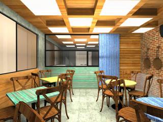 Bistrô Barra da Tijuca Espaços gastronômicos rústicos por Julia Queima Arquitetura Rústico