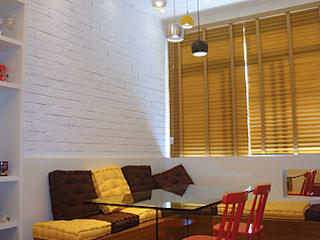Reforma e modernização de apartamento em Botafogo, RJ Salas de jantar rústicas por Debiaze Arquitetura Rústico