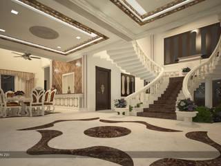 Couloir, entrée, escaliers asiatiques par Premdas Krishna Asiatique