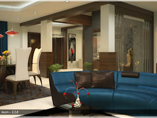 Contemporary Interior Design:  Living room by Premdas Krishna