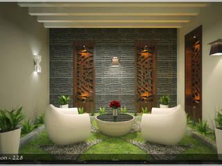 Contemporary Interior Design Modern balcony, veranda & terrace by Premdas Krishna Modern