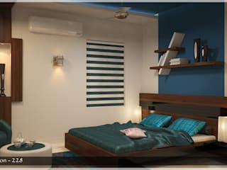 Contemporary Interior Design Modern style bedroom by Premdas Krishna Modern