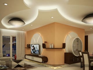 Impressive contemporary style Modern living room by Premdas Krishna Modern