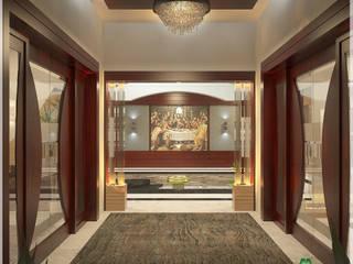 Couloir, entrée, escaliers modernes par Premdas Krishna Moderne