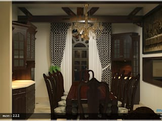 Asian style dining room by Premdas Krishna Asian