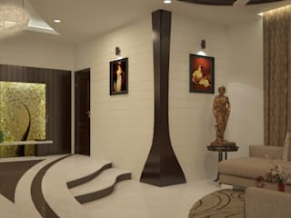 Magic in interiors with Indian contemporary design Modern living room by Premdas Krishna Modern