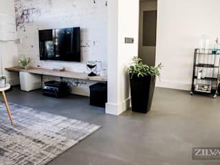Paredes y pisos de estilo industrial de Zilva Vloeren Industrial
