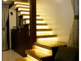 Modern corridor, hallway & stairs by Navmiti Designs Modern