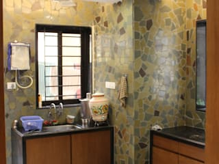 MR. NIMITBHAI DESAI RESIDENCE Rustic style kitchen by INCEPT DESIGN SERVICES Rustic