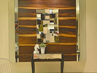 Duplex Apartment design:  Corridor, hallway & stairs  by Aum Architects
