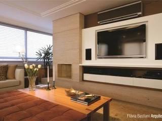 Apartamento clássico e aconchegante Salas de estar clássicas por Flávia Bastiani Arquitetura Clássico