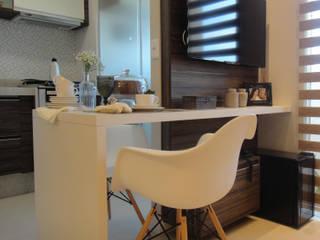SALA DE ESTAR E COZINHA: Salas de estar  por BEATRIZ DANELON | Arquitetura e Interiores,
