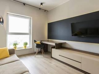 Nowoczesne mieszkanie w jasnych kolorach Nowoczesne domowe biuro i gabinet od Inspiration Studio Nowoczesny