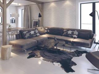 Projekt Wnętrz M01: styl , w kategorii Salon zaprojektowany przez MOCO Architekci