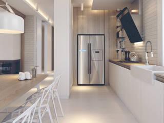 Projekt Wnętrz M01: styl , w kategorii Kuchnia zaprojektowany przez MOCO Architekci