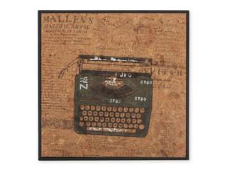 Typewriter Painting od MyDesign24 Nowoczesny
