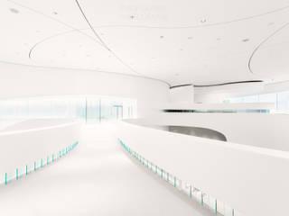 Leonardo Glass Cube Interior Moderne Geschäftsräume & Stores von Philip Gunkel Photographie Modern