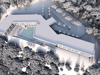 Proyecto Hotel  Spa & Convenciones: Casas de estilo  por Estudio Arquitectura Agustín Duarte