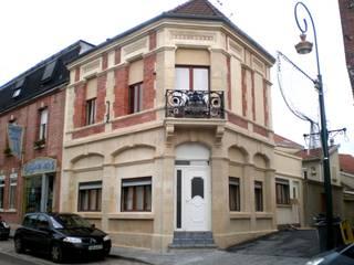 Restauration de façades - Pierre et brique par Habitat et Tradtions