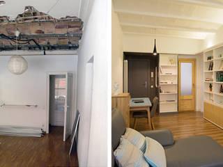 REQUETEFALLA LOCA Studio Salones de estilo escandinavo Madera Blanco